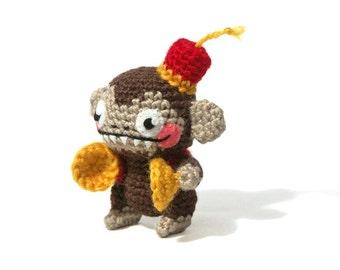 Wind Up Monkey - Amigurumi - crochet pattern
