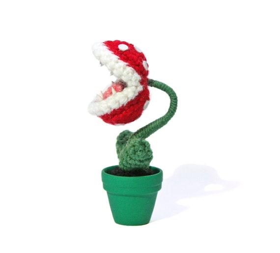 Mini Piranha Pflanze - Amigurumi - Super Mario