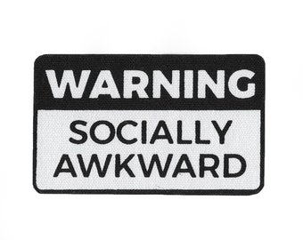 Socially Awkward // Screen Printed Patch