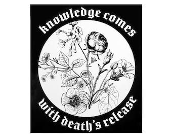 David Bowie Ziggy Stardust Floral Death's Release Sticker