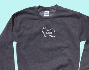 "Shih Tzu ""DAD"" - Dog Crewneck Outline Sweatshirt"