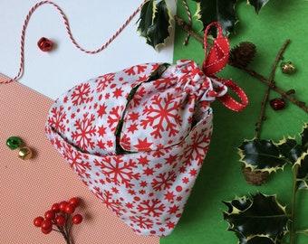 Christmas fabric bag | Etsy
