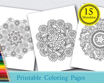Floral Mandalas Coloring Pages For Adults