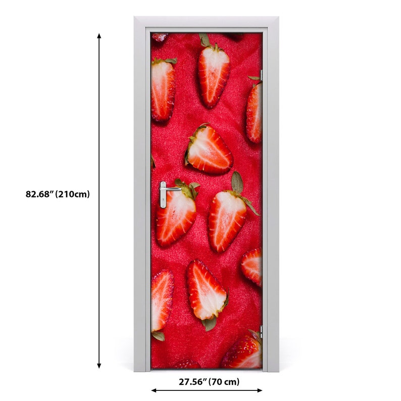 3D Home Art Door Self Adhesive Removable Sticker Decal Food strawberries  DS/_280
