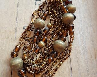 Extra long beaded necklace boho