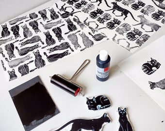 Wall Stamp Set - Cats