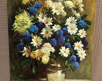 "1972 Vintage Currier /& Ives /""SPRING FLOWERS/"" BOUQET STILL LIFE Color Lithograph"