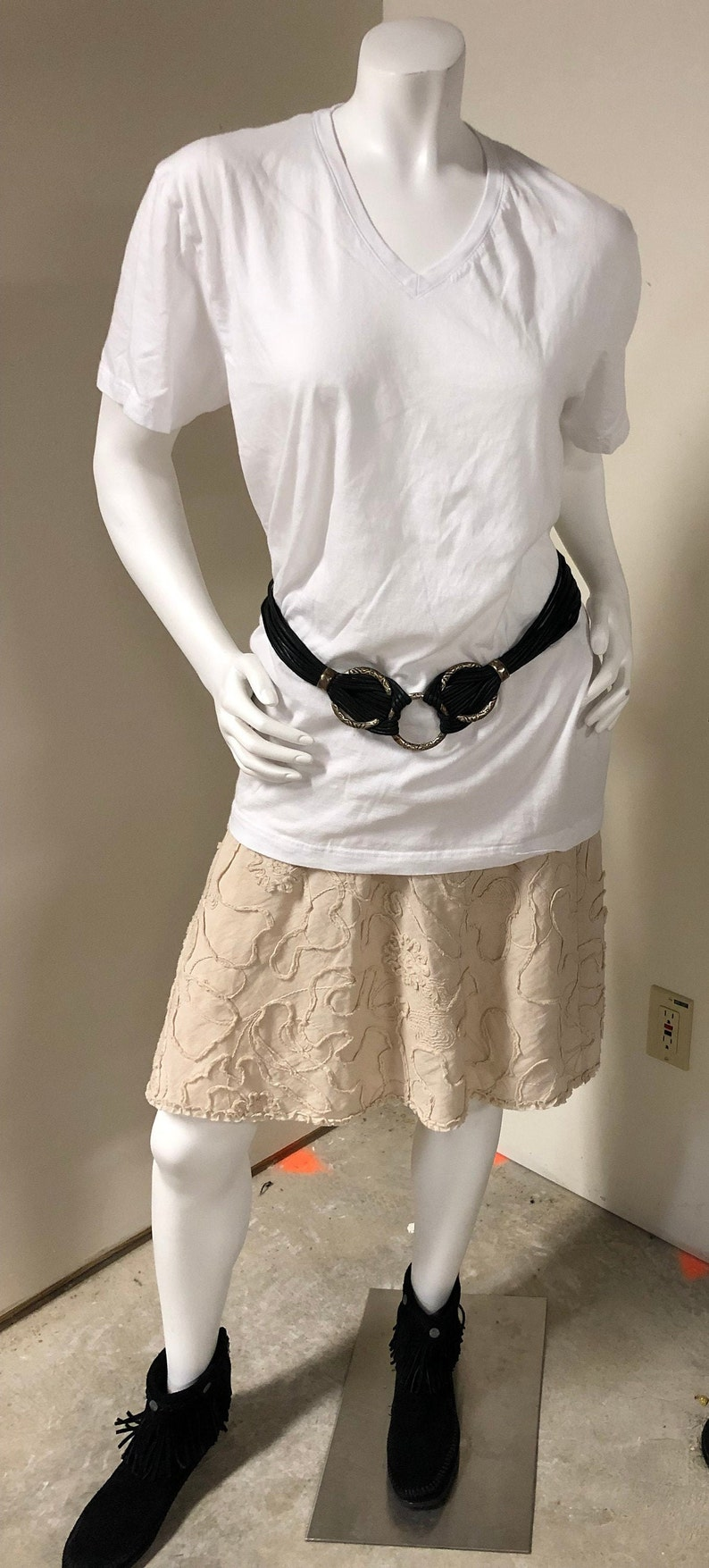 Classic Black Waxed Cotton Belt
