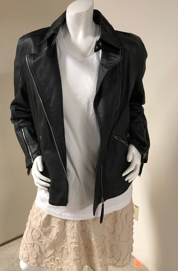Twiggy of London Genuine Leather Jacket