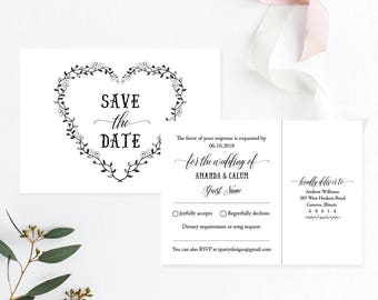 save the date postcard template etsy
