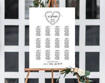 wedding seating list etsy