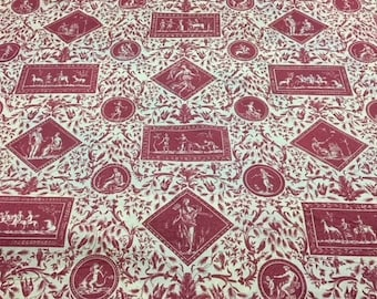 Red Toile d'Avignon (sold by the yard)