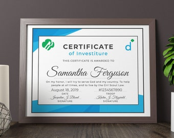 girl scout daisy investiture certificate printable pdf template