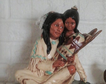 Native American Woman with Children