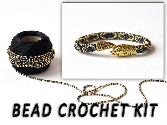 bead crochet kit earrings adult craft kit seed bead kit pdf crochet pattern kit bijoux crochet bead crochet rope pattern diy kit earrings