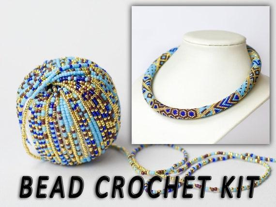 Schmuck machen Kit Perle häkeln Set moderne Halskette | Etsy