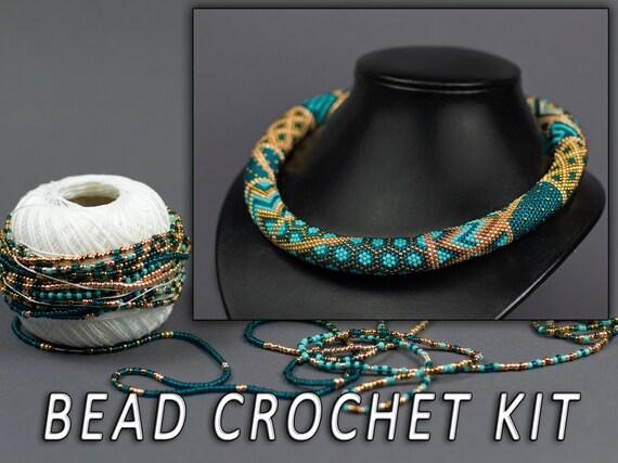 DIY Kit Patchwork Halskette Erwachsene Handwerk Perle häkeln   Etsy