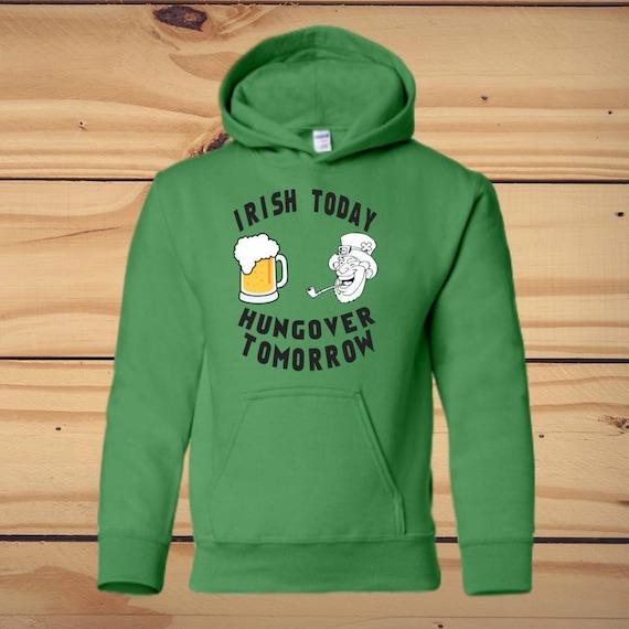 8c542a3f St Patricks Day Custom Hoodie Irish Leprechaun Saint Patrick | Etsy