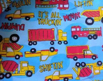 Flannel fabric by the yard - Truckin'