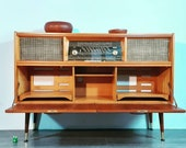 Radio furniture and double vinyl compartment in Teck, Norway 1960s