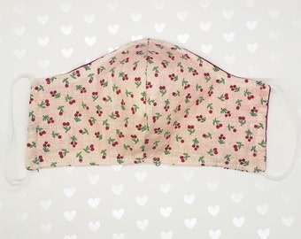 Cherry Mask | Reusable Face Masks | Cotton Face Mask | Washable | Cotton