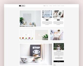 Responsive Wordpress Theme - Xoda - Wordpress Blog Theme - Feminine Wordpress Theme - Template