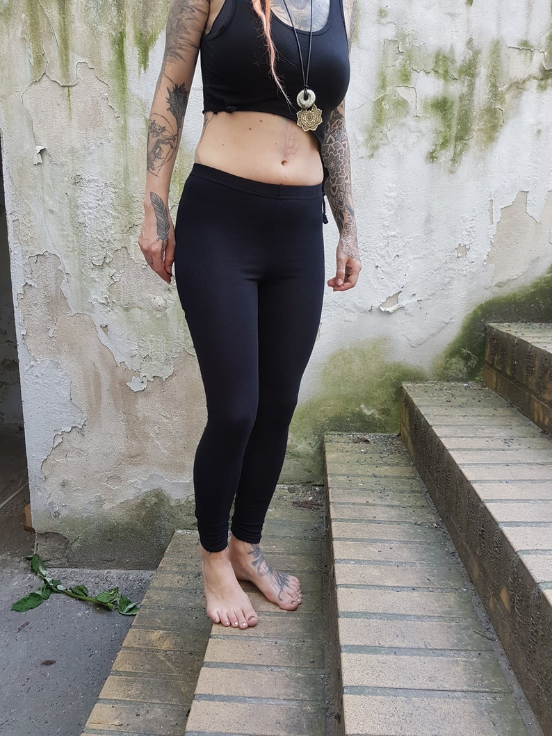 XS-XXXXL backcut leggings black cutouts cut out goa pixie braided psy burning cosplay yoga lacing geometric pattern rave knotted