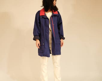 Blue Jacket with Red Collar Detail, M/L