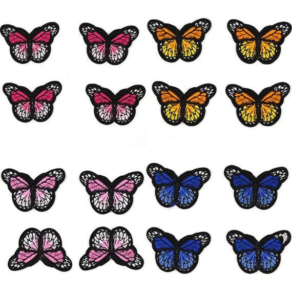 Iron On Fabric Appliques Set of 10 Little Butterflies