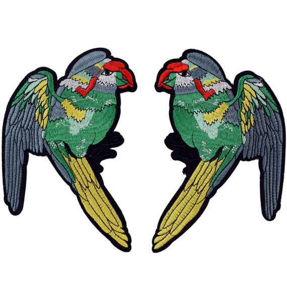 Iron On Patch Applique Parrot in Ring