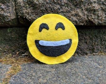 Laughing Emoji Felt Catnip Toy