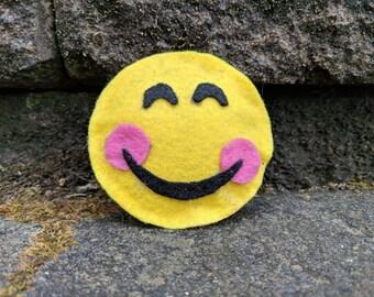 Smiley Emoji Felt Catnip Toy