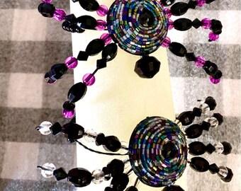 Beaded Spiders, Spiders, Halloween spider bracelets, Halloween decor, Halloween decorations, October 31, beaded spider jewelry