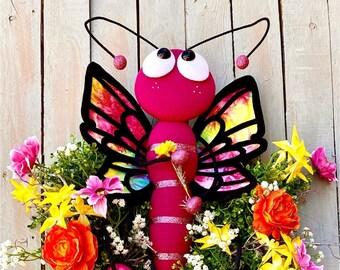 Ritzy Glitzy Wreaths Everyday Butterfly wreath , Front Door Wreath, Summer Wreath, Summer Door Decor, Door hanger, Butterfly deco