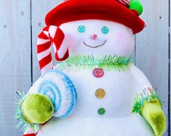 Candy snowman, peppermint snowman, snowman candy decor, candy decor