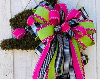 Easter Bunny Wreath, Topiary Bunny Door Wreaths, Easter Wreaths for Front Doors, Spring Door Decor, holiday baubles decor, Ba Bam Wreaths