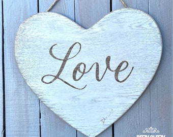 Valentines heart sign, love sign, sign, love heart, Heart decor, heart shape sign, wedding sign, love decor