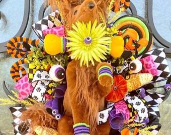 Ritzy Glitzy Wreaths Halloween Dog Wreath, Halloween Dog Wreath,  Halloween Swag, wreath, Halloween Dog, October 31 decorating, pet  gifts
