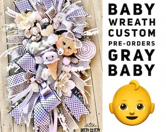 Baby Wreath, Baby Boy Wreath, Baby Girl Wreath, Baby Gift, Expected Mothers, mother-to-be, baby shower gift, baby gifts