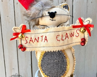 Santa Claws Cat, cat decor, home decor, wreath supplies