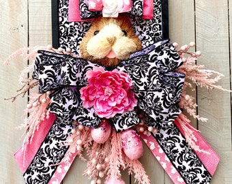 Ritzy Glitzy Wreaths, Easter Wreath, Easter Bunny Wreath, Easter Bunny Door Wreaths, Easter Wreaths for Front Doors, Spring Wreath