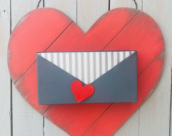 Heart sign, wood heart, metal heart box, Valentine's Day heart