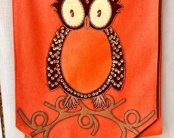 Owl Table Runner, D.Stevens Table Runner, Fall Owl Table Runner