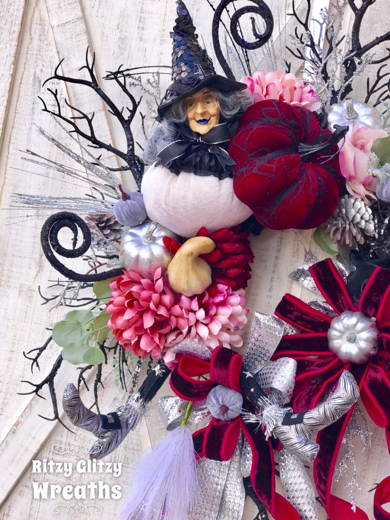 Halloween home decor October wreath Halloween witch wreath Witch legs wreath Ready to ship Halloween Door Decor Halloween wall decor