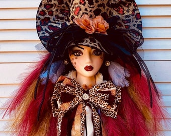 Ritzy Glitzy Wreaths Witch wreath for front door, halloween witch for front door, fall witch for front door, witch front door wreath, oct 31