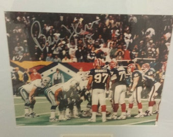 Dallas Cowboy Quarterback Bernie Kosar Signed Superbowl Photo