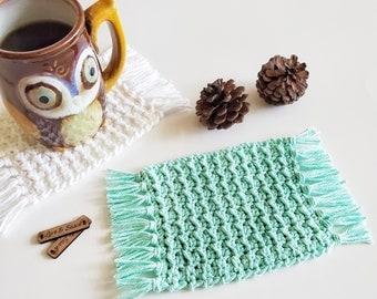 Crochet Pattern   Penelope Mug Rug   Crochet Mug Rug Pattern   Crochet Coaster Pattern   Handmade Home Decor   Instant Download   PDF