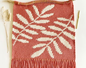 Crochet Pattern   The Between the Ferns Wall Hanging   Wall Hanging Crochet Pattern   Crochet Plant Pattern   Instant Download   PDF