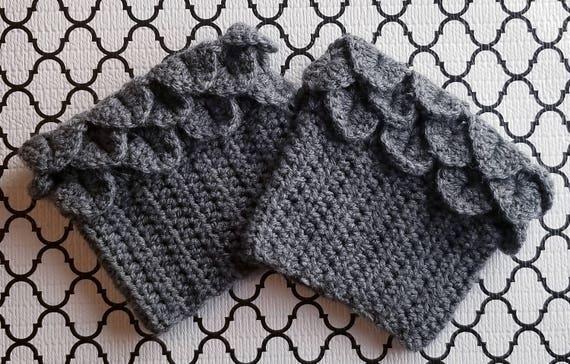 Crochet Alligator Scale Boot Cuff Pattern Crochet Boot Cuff Etsy