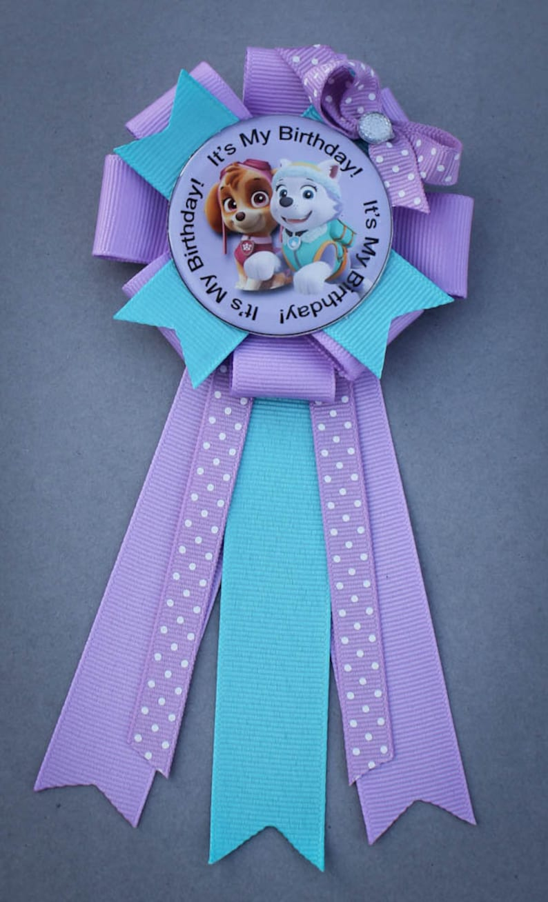 Paw Patrol Birthday Pin Paw Patrol Party Pin Paw Patrol image 0